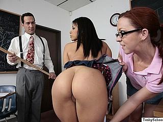 Latina babe gets asshole stuffed with dildo!
